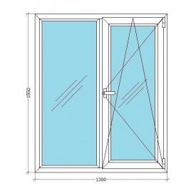 Металопластикове вікно Viknar'OFF Fenster 400 (поворот-відкид) з 1-камерним склопакетом 1,3x1,55 м