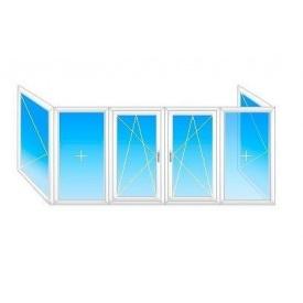 Балкон П-образный Mega Line 500 с 1-кам. стеклопакетом 4,5x1,5м