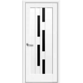 Двері міжкімнатні Новий Стиль НОСТРА Лаура Blk Premium 600х2000 мм білий матовий