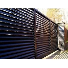 Забор-жалюзи Юнистрейд ЭКО порошковое покрытие