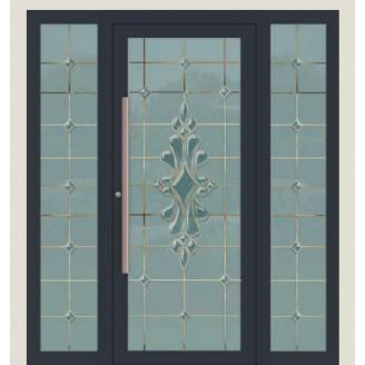 Алюмінієві фасадні двері m-1152-1