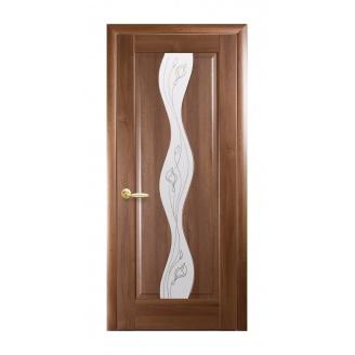 Двери межкомнатные Новый Стиль МАЭСТРА Р Волна Р2 600х2000 мм золотая ольха
