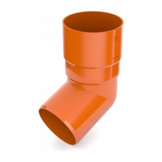 Колено трубы Bryza 125 67 градусов 90,2х145х84,5 мм кирпичный
