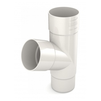 Тройник трубы Bryza 125 245х90,2х90,2х84,5 мм белый