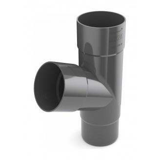 Тройник трубы Bryza 125 245х90,2х90,2х84,5 мм графит