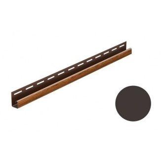 Монтажная планка для софита Galeco DECOR тип J 4000 мм темно-коричневый