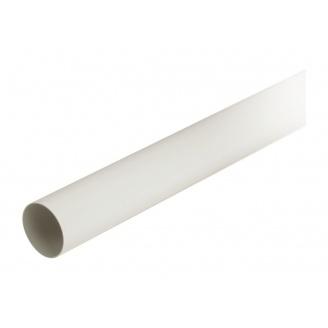 Труба водосточная с муфтой Nicoll 80 мм белый