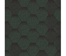 Битумная черепица Aquaizol Мозаика 320х1000 мм зеленый микс