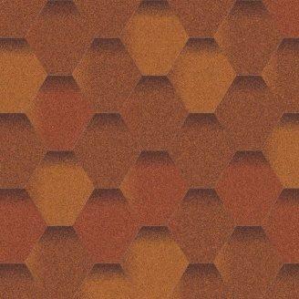 Битумная черепица Aquaizol Мозаика 320х1000 мм теплый воск