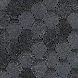 Битумная черепица Aquaizol Мозаика 320х1000 мм маренго