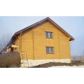 Строительство домов из оцылиндрованного бруса