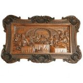 Декоративное деревянное панно Гюмри Тайная вечеря 60х40х5 см