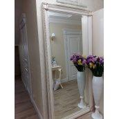 Зеркало дизайнерское с элементами резьбы 2400x1000 мм