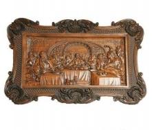 Декоративне дерев'яне панно Гюмрі Таємна вечеря 60х40х5 см