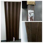 Двері гармошка дуб рустик 820х2030х0,6 мм розсувні міжкімнатні пластикова глуха