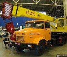 Оренда автокрана КС-55712 технічні і вантажопідйомні характеристики