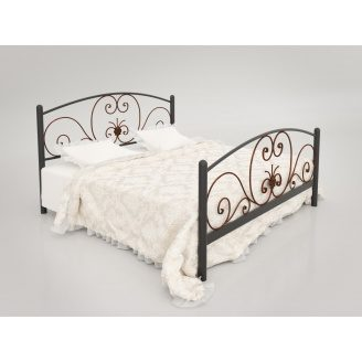 Двухместная кровать Нимфея Тенеро 1800х2000 мм черная