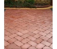 Тротуарна плитка Золотий Мандарин Цегла Антик 240х160х90 мм повний прокрас бордовий