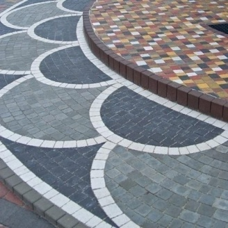 Тротуарна плитка Золотий Мандарин Креатив 60 мм сірий
