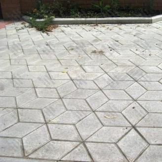 Тротуарна плитка Золотий Мандарин Ромб 150х150х60 мм сірий