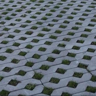 Тротуарна плитка Золотий Мандарин решітка Паркувальна 500х500х80 мм сірий