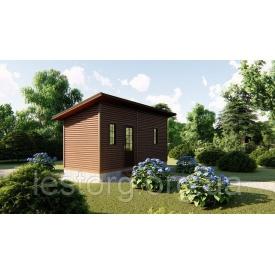 Садовий каркасно-щитовий будинок 6х2,4 м без веранди в скандинавському стилі