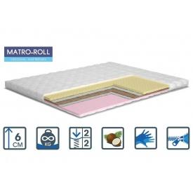 Тонкий матрас Матролюкс Memotex Kokos Matro-Roll-Topper