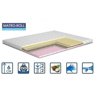 Тонкий матрас Матролюкс Memotex Kokos Matro-Roll-Topper