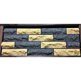 Кирпич облицовочный ECOBRICK скала 250x100x65 мм черный/желтый