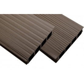 Террасная доска HOLZDORF CLASSIC тип 2 бесшовная 35х149х3000 мм орех