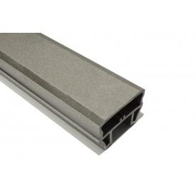Перило ограждения HOLZDORF Кантри из ДПК 80х53 мм графит