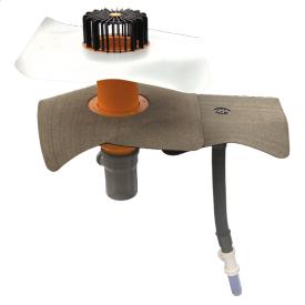 Система дренажу для пароізоляції та ревізійний перелив при пошкоджені пвх ковра
