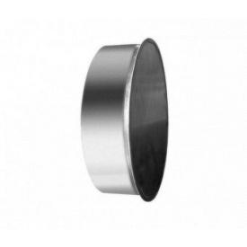 Заглушка кругла металева оцинкована 100 мм