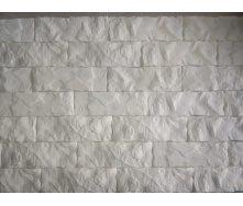Декоративная гипсовая плитка Колотый кирпич 21х7,2х1,2 см белый