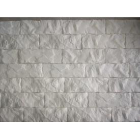 Декоративна гіпсова плитка Колотий цегла 21х7,2х1,2 см білий
