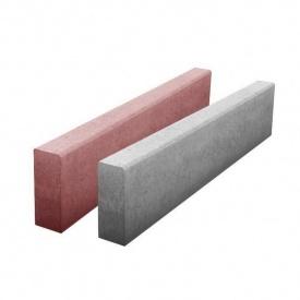 Бордюр тротуарний бетонний сухопрессованный односхилий 100х20х8 см