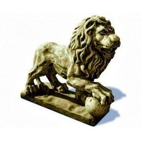 Фігура садова Континент Лев з кулею правий бетонна