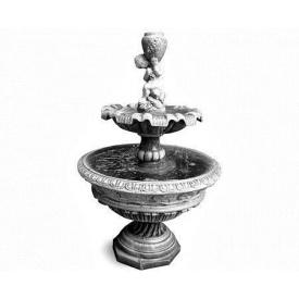 Фонтан садовый Континент Андромеда бетонный двухъярусный мальчик с кувшином