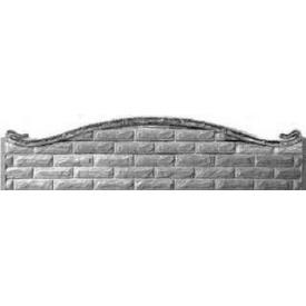 Плита еврозабора Континент Фагот арка односторонняя бетонная глухая