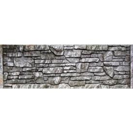 Плита єврозабору Континент Піщаник одностороння бетонна глуха