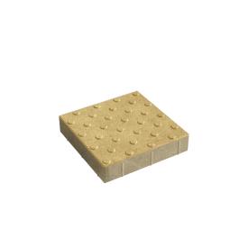 Тротуарна плитка Тактильний квадрат з колами бетонна сухопрессованная 6 см