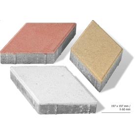Тротуарная плитка Ромб бетонная сухопрессованная 6 см