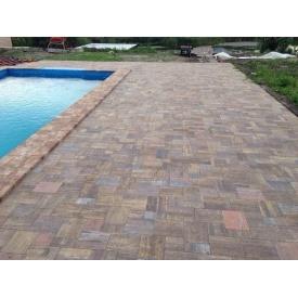 Тротуарная плитка Лайнстоун-20 бетонная сухопрессованная 4 см без фаски
