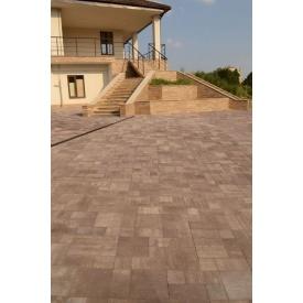 Тротуарная плитка Лайнстоун-30 бетонная сухопрессованная 4 см без фаски