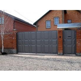 Розпашні ворота з фільонки 3х2/1х2 м з хвірткою