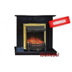 Каминокомплект Elaine Gold IDaMebel Royal FLame Fobos FX Brass 2000 Вт 900x910x310 мм