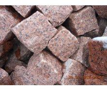 Брусчатка гранитная колотая Лезниковского месторождения 10х10х10 см