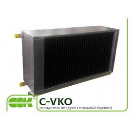 Водяний повітроохолоджувач для прямокутних каналів C-VKO-100-50