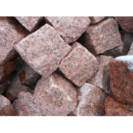 Бруківка гранітна колота Лезниківського родовища 10х10х10 см