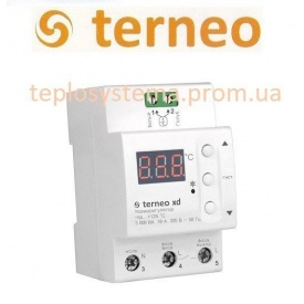 Терморегулятор Terneo xd для систем охлаждения и вентиляции на DIN-рейку